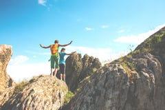 Trekking dans les montagnes Photo libre de droits