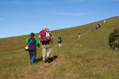 Trekking day in the mountains. At Thailand Royalty Free Stock Image