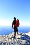 Trekking in de bergen van de Kaukasus Royalty-vrije Stock Fotografie