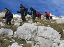 Trekking de roche photos stock