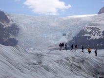 Trekking del ghiaccio Immagini Stock