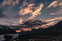 Trekking del Pakistan Karakoram K2 immagine stock libera da diritti