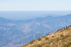 Trekking della gente in Tailandia Fotografie Stock