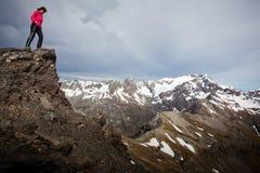 Trekking della montagna Immagini Stock Libere da Diritti