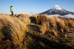 Trekking della Nuova Zelanda Fotografie Stock