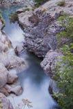 Trekking in den Bergen Lizenzfreies Stockfoto