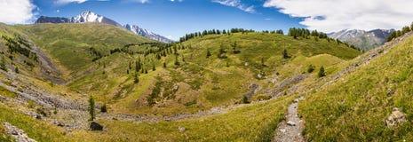 Trekking in den Bergen Stockfotos