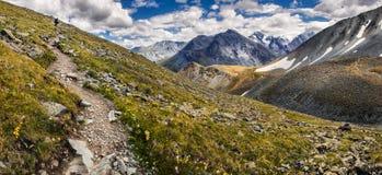 Trekking in den Bergen Stockbilder
