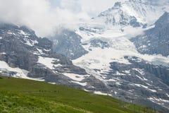 Trekking in der Schweiz stockbild