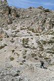 Trekking in Dolomiet, Italië stock foto's
