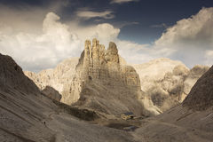 Trekking in Dolomites / Dolomiti mountains, Catinaccio / Rosenga Stock Photography