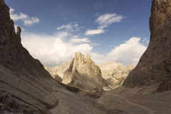 Trekking in Dolomites / Dolomiti mountains, Catinaccio / Rosenga Royalty Free Stock Image