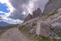 Trekking in the Dolomites Royalty Free Stock Photo