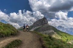 Trekking on Dolomites Royalty Free Stock Photography