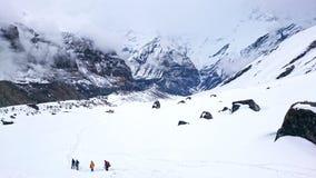 Trekking du Népal images libres de droits