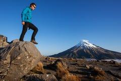 Trekking du Nouvelle-Zélande Image libre de droits