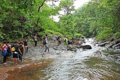Trekking em Goa durante a monção fotos de stock royalty free