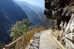 Trekking em montanhas de Cangshan, Dali, província de Yunnan, China Imagens de Stock