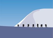 Trekking em uma geleira Fotos de Stock Royalty Free