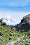 Trekking en montagnes, Pérou, Amérique du Sud Images libres de droits