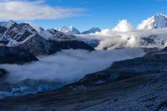 Trekking Everest niedrigen Lager-EBC in Nepal lizenzfreie stockfotografie