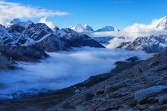 Trekking Everest niedrigen Lager-EBC in Nepal lizenzfreies stockbild