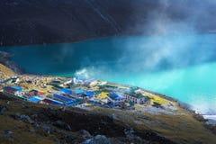Trekking Everest niedrigen Lager-EBC in Nepal stockbild