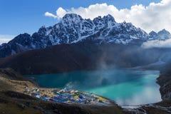 Trekking Everest niedrigen Lager-EBC in Nepal stockfotografie