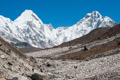 Trekking in Everest region, Nepal. View of the himalayas in Everest region, Nepal Stock Photography