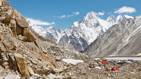 Trekking Expedition Camp, Karakorum, Pakistan Royalty Free Stock Photography