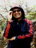 Trekking felice Fotografia Stock Libera da Diritti
