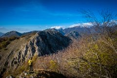 Free Trekking From Pontito To Penna Di Lucchio, Lucca - Tuscany Stock Images - 165240994