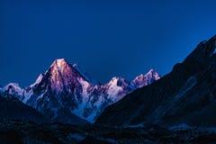 Trekking Gasherbrum Pakistans Karakoram K2 stockbilder