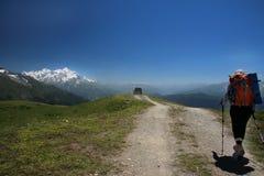 Trekking in Georgia fotografia stock libera da diritti