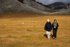 Trekking girls Stock Photography