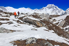 Trekking in Gokyo Valley Royalty Free Stock Images