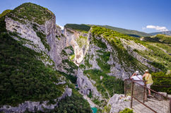 Trekking in the Gotges du Verdon Royalty Free Stock Images