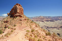 Trekking in Grand Canyon Royalty Free Stock Image