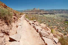 Trekking in Grand Canyon Stock Photo