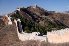Trekking on Great Wall. royalty free stock images