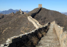 Trekking on Great Wall. Famous worldwide landmark-The Great Wall, which stretches over approximately 6,400 km (4,000 miles). China Royalty Free Stock Image