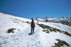 Trekking at gredos mountains Stock Photos