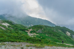 Trekking at Hakuba,Nakano,Japan Royalty Free Stock Image