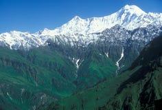 Trekking in het Himalayagebergte Stock Foto