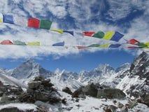 Trekking in het Himalayagebergte Royalty-vrije Stock Afbeeldingen
