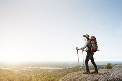 Trekking and hiking Stock Photo