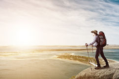 Trekking and hiking Royalty Free Stock Photos