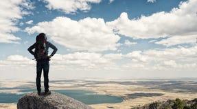 Trekking and hiking Stock Photos