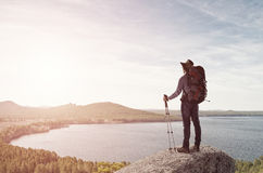 Trekking and hiking Royalty Free Stock Photography