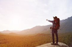 Trekking and hiking Royalty Free Stock Images